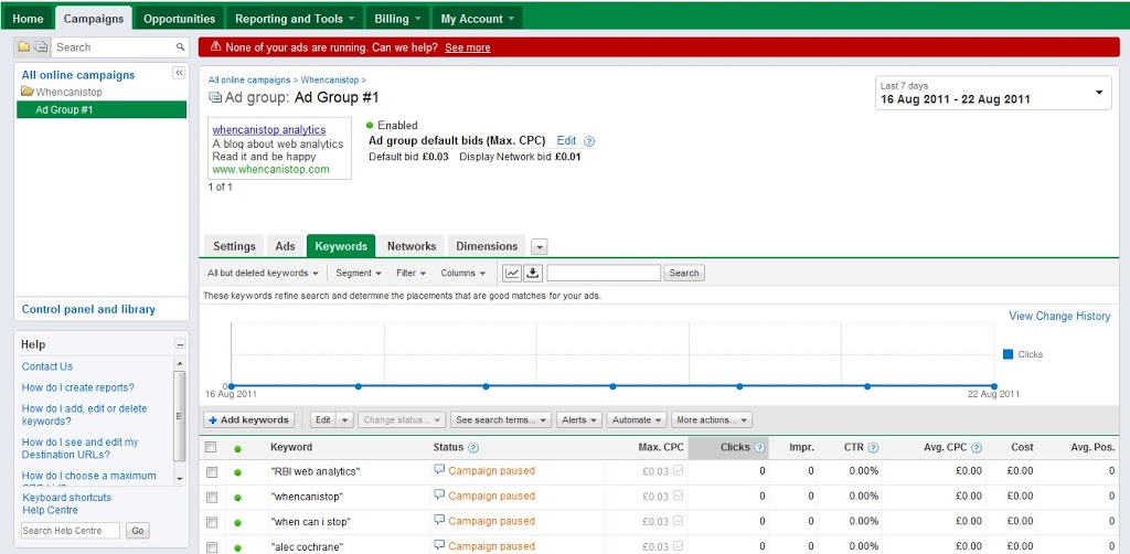 Tips for Building your Google Adwords to help Analysis